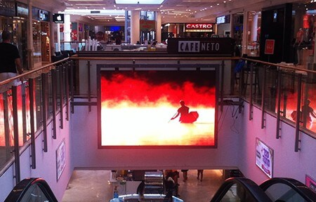 Indoor LED Fixed in Shopping Centre